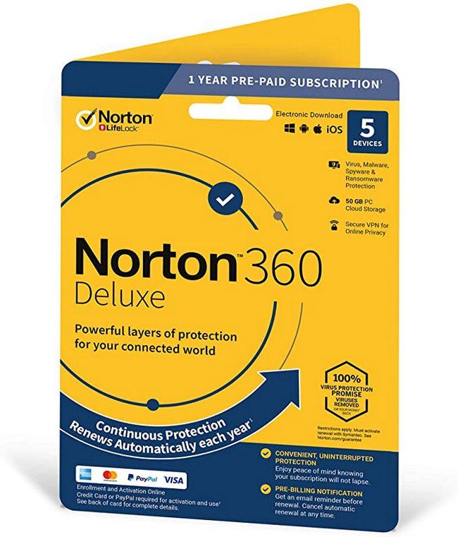Norton 360 Deluxe til 5 enheder